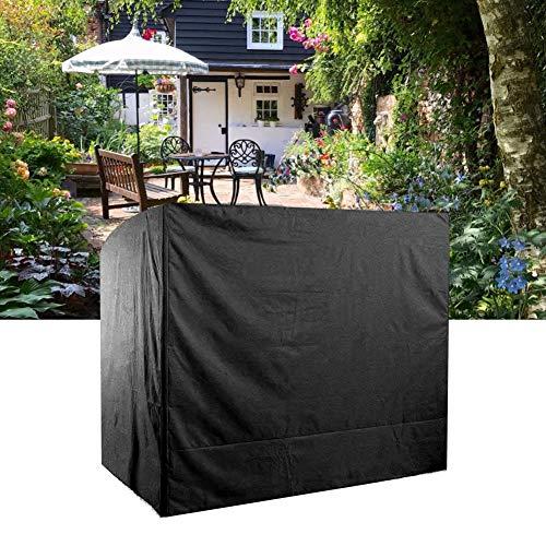 Funda impermeable para asiento oscilante Raguso, resistente al agua, de poliéster 190T, resistente al agua, para exteriores, hamaca de patio, cubierta de protección (negro)