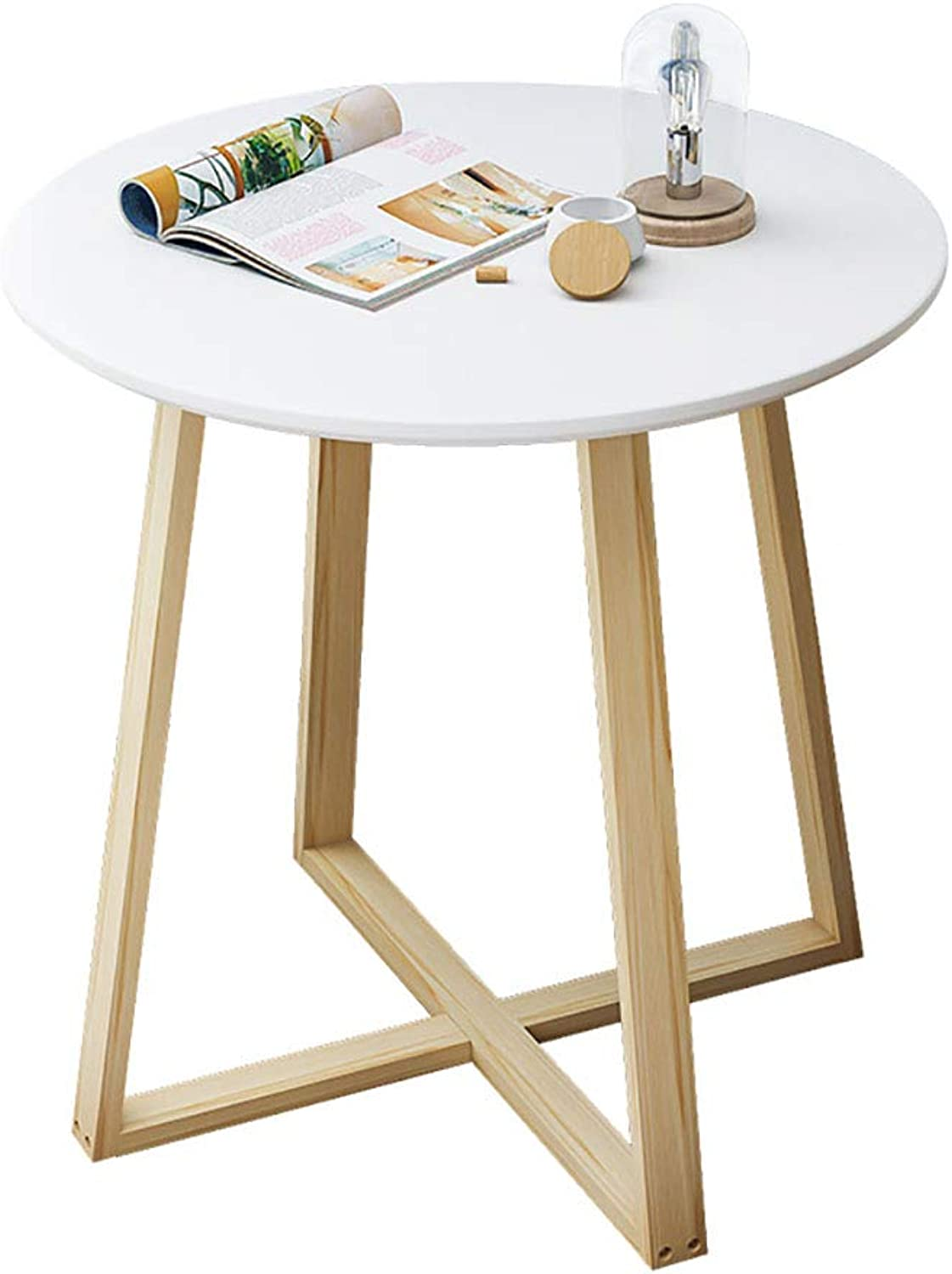 Nordic Simple Coffee Table Solid Wood Round Small Side Table Bedroom Mini Bed Table European Sofa Corner