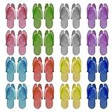 Happyyami 24 Pares de Chanclas Desechables Zapatillas Plegables de Espuma para Pedicura SPA Baño de...