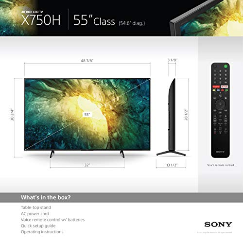 Sony X750H 55-inch 4K Ultra HD LED TV (2020 Model)
