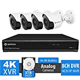 Camius 4K 8 Channel DVR NVR Security System with 3TB Hard Drive,