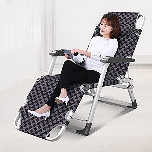 JAKWBR Sillas reclinables para patio, tumbonas reclinables, de gravedad cero, silla de salón plegable al aire libre, soporte de 600 libras, para acampar al aire libre, jardín, patio, césped