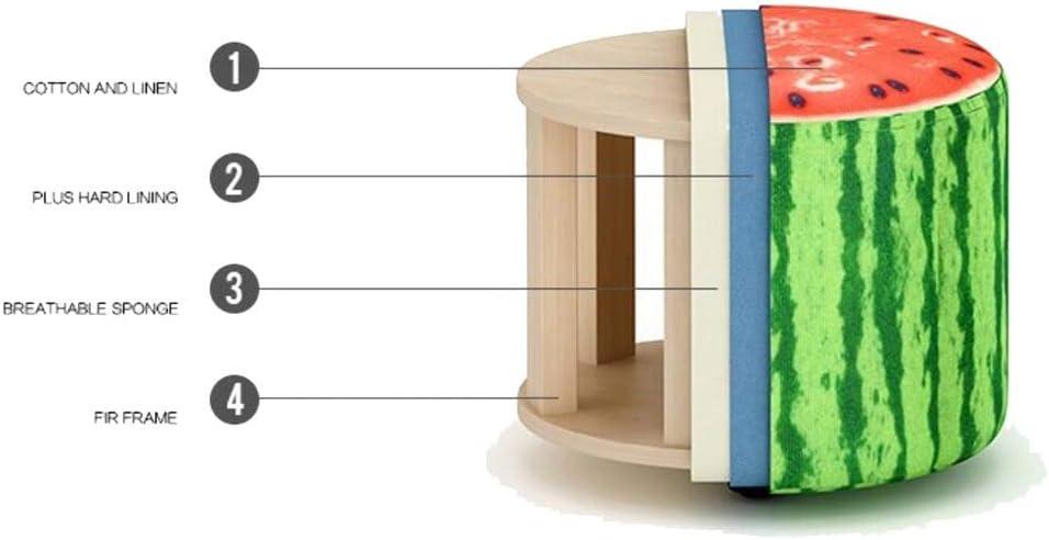 HQQ Simple Tabouret Tabouret Tabouret Banc Banc En Bois Massif Chaise Chambre Salon Tabouret De Porche Créatif Modèle Réaliste 28 × 28 × 27 cm Sofa paresseux (Color : B) B