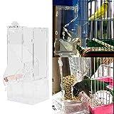 XINL Comedero para pájaros, comedero para pájaros de acrílico Transparente para Tienda de Mascotas casera
