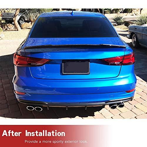 fits for Audi A3 S3 A3 Sline RS3 Sedan 2014-2019 Carbon Fiber Rear Trunk Lip Deck Lid Wing Factory Outlet JC SPORTLINE A3 S3 RS3 CF Rear Spoiler