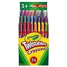 Crayola Twistables Crayons Coloring Set, Kids Indoor Activities at Home, 24 Count, Assorted