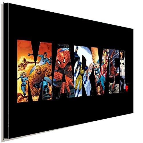 AK ART Marvel Helden Leinwandbild Kunstdruck Wandbild Wanddeko Mehrfarbig XXL (120 x 80 cm)