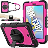 SEYMAC stock Case for SM-T387, 2018 Version of Galaxy Tab A 8.0, (Not fit Other Galaxy Tab A 8.0) - Brightpink