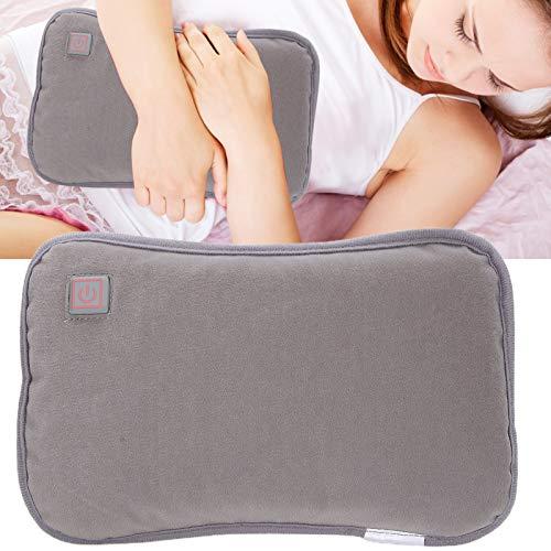Pwshymi Calentador portátil con enchufe USB Power Bank Calentador de manos para uso en el hogar para mujeres y hombres (gris)