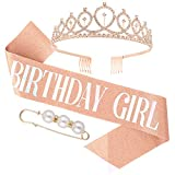 Veraing Geburtstags-Krone Schärpe Geburtstags Kristall Tiara Krone Geburtstags Krone Birthday Crown...