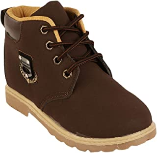 Hopscotch Passion Petals PU Winter Boots for Boys - Brown