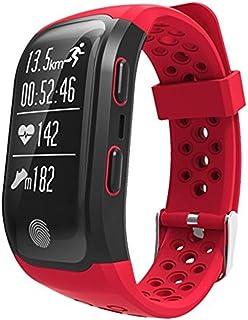 HBBOOI Inteligente GPS del Reloj del Reloj del Funcionamiento con el Control de Las pulsaciones y Smart Notificaciones Ritmo cardíaco Control de Actividad Reloj de la Aptitud Compatible con iOS