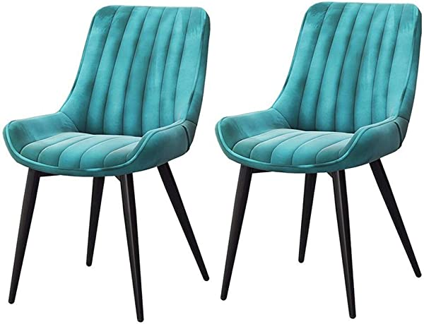 Dining Chairs CJC Set Of 2 Kitchen Chairs Soft Velvet Seat And Back Metal Legs Dining Room Living Room Chair Color 003