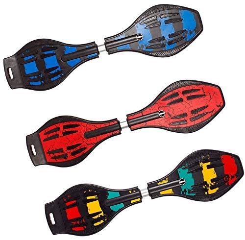 Selltex Waveboard/Casterboard bis 95kg für Einsteiger und Fortgeschrittene in rot, blau und bunt (blau)