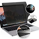 Homy Privacy Screen Protector for MacBook Air Retina 13 inch 2018-2021, Pro 13 2016-2021 Bonus: Keyboard Cover. Easy On-Off Filter A1932 A2179 A1706 A1989 A2159 A2251 A2289 A2238 A2338 Touch Bar A1708