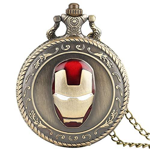 Herren-Taschenuhr, Iron Man Quarz Taschenuhr Halskette Kette Modern Uhren Uhr Geschenk für Herren