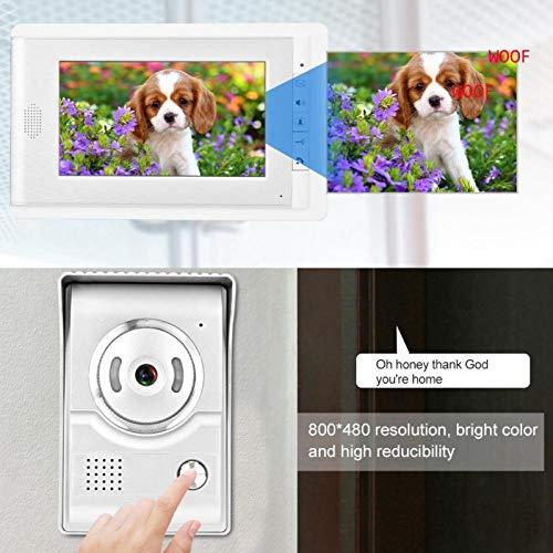 Eulbevoli Timbre TFT-LCD HD de 7 Pulgadas de Alta confiabilidad Más Seguro, para Apartamentos, Pisos de Gran Altura(V70C-L+British Standard, 100-240V)
