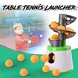 MZY1188 Mini Lanzador de Tenis de Mesa, Entrenador de máquina de Servicio de Lanzamiento de Entrenamiento de Tenis de Mesa con 10 Pelotas de Ping Pong