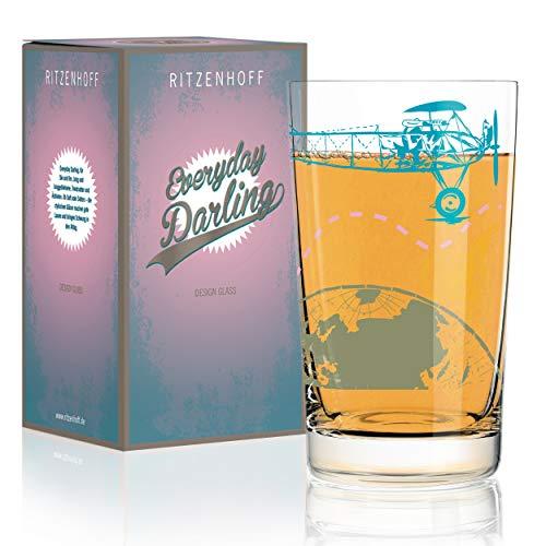 RITZENHOFF Everyday Darling Pedrazzini Perilli - Vaso (cristal, 300 ml, con decoración de moda)
