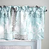 Welcome to The Shore Sand Dollars and Starfish Bathroom Window Valance