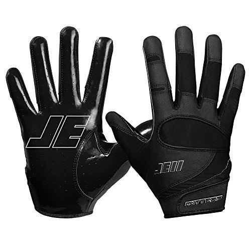 Cutters JE11 Signature Series Ungepolsterte Football Handschuhe - Schwarz Gr. XL