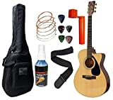 Yamaha FS100C, 6-Strings Acoustic Guitar With Sponge Bag, Belt & Plectrums Combo Pack