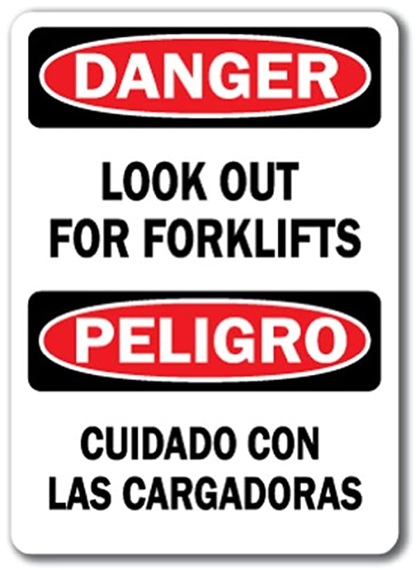 Danger Sign - Look Out for Forklifts (Bilingual) - 10
