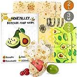 HONEYALLEY Reusable Beewax Food Wrap, 7 Pack Plastic Free Alternative...