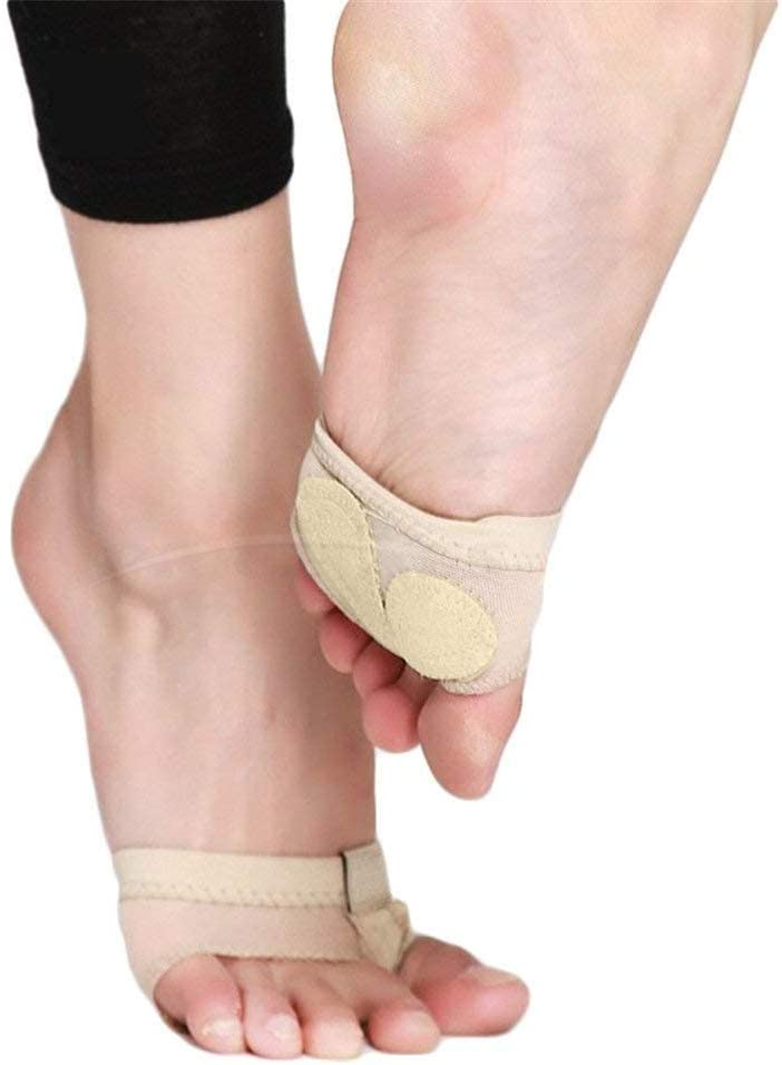 Dance Foot Thongs,Thong Toe Paws,Lyrical Shoes Lyrical Ballet Belly Dance Foot Thongs Dance Paw Pad Shoes Half Sole (XL)