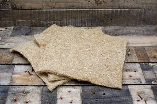 Hanfmatte, Nagerteppich, 3er Set, 30x30cm, 5mm dick, 100% Hanf, Wurmkiste