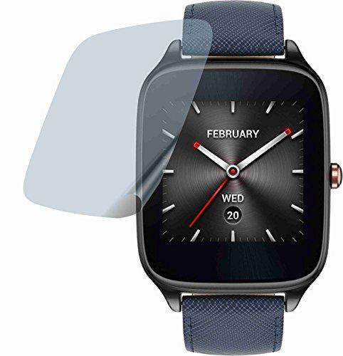 4ProTec I 4 Stück Premium Bildschirmschutzfolie Displayschutzfolie ANTIREFLEX für Asus Zenwatch 2 WI501Q Schutzhülle Bildschirmschutz Bildschirmfolie Folie