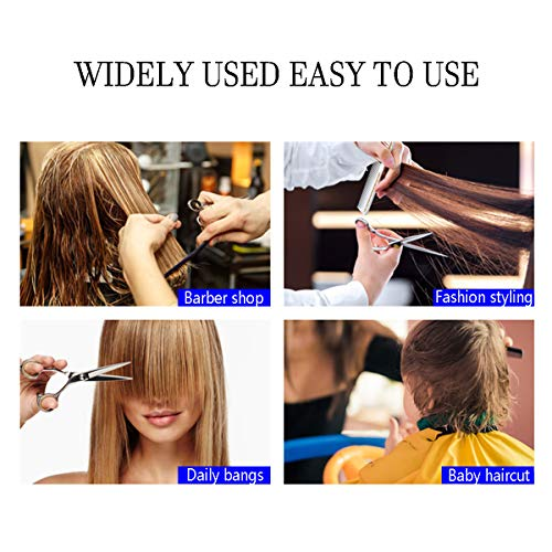 Hair Cutting Scissors Set, 10Pcs Haircut Shears Kit with Cutting Scissors, Thinning Scissors, Hair Razor Comb, Clips, Cape, Hairdressing Shears Kit for Home, Salon, Barber