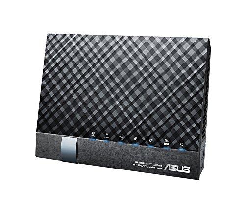 ASUS DSL-AC56U AC1200 Dual-Band Wi-Fi Gigabit Modem Router con 2 Porte USB, 4 Porte Gigabit