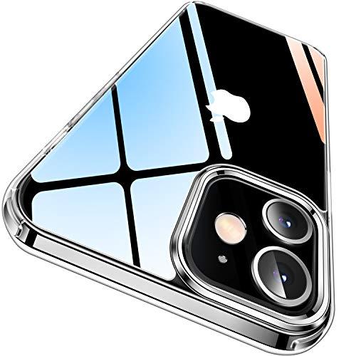 CASEKOO Crystal Clear für iPhone 12 Hülle/iPhone 12 Pro Hülle (Keine Vergilbungen) (Falltest gemäß MLT-STD) Stoßfest Transparent Case Slim Dünn Handyhülle 6,1 Zoll 5G 2020, Durchsichtig