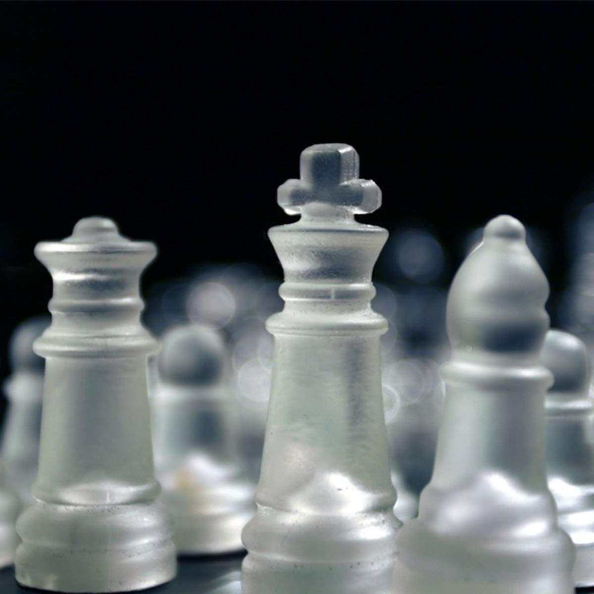 25Cm High-End Elegant K9 Checker Glass Chess Game Set Home Decorations TuToy 20 S 20//25