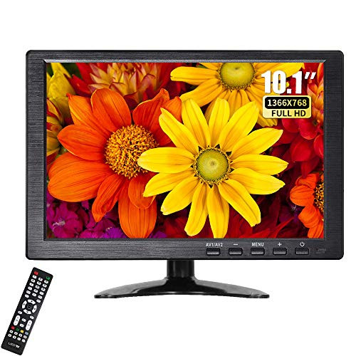 Find Bargain 10.1 Inch Portable Monitor HDMI Security Monitor HD 1366x768 TFT LCD Color Computer Mon...