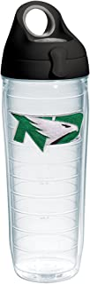 Tervis 1254488 North Dakota Fighting Hawks Logo Insulated Tumbler with Emblem and Black with Gray Lid, 24oz Water Bottle, ...