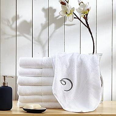 Calla Angel Superior 1000 Gram Egyptian Cotton Oversize 63 x 31 Bath Towel, 1 Piece, Logo White