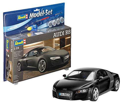 Revell REV-67057 Audi R8 Modellbausatz + Zubehör, Mehrfarbig