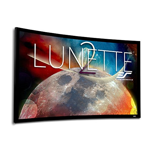 Elite Screens Lunette 2 Series, 100-inch Diagonal 16:9, Curved Home Theater Fixed Frame Projector Screen, CURVE100WH2