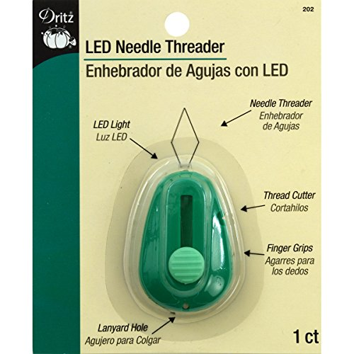 Dritz 202 LED Needle Threader with Cutter , Green