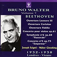 Violin Concerto, Piano Concerto.5, Etc: Szigeti, Gieseking, Walter