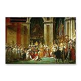 NCCDY Dekoratives Gemälde auf Leinwand, Motiv: Die Krönung von Napoleon Jacques-Louis David, 50 x 75 cm