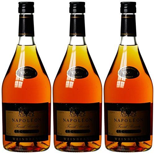 Napoleon Le Cuvier französischer Weinbrand 36% (3 x 1 l)