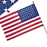 American Flag Sleeve 3x5 FT, American Flag 3x5 Outdoor, Embroidered Stars, Sewn Stripes, UV Protected, Durable Nylon US Flag Outdoor (Pole NOT Included)