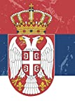Serbia Flag Journal: Serbia Travel Diary, Serbian Souvenir, lined Journal to write in