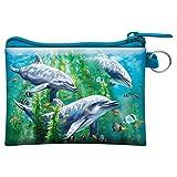3D LiveLife Monedero - Delfines y Algas Marinas de Deluxebase. Monedero lenticular 3D con diseño de océano. Monedero con Cremallera y Tarjetero con Obra de Arte de la reconocida Artista Tami Alba