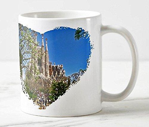 Exklusiver Kaffee Becher - Motiv: Die Sagrada Familia in Barcelona (Aquarell) - Foto-Tassen/Fotos / Bilder/Souvenirs