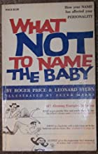 What Not to Name the Baby