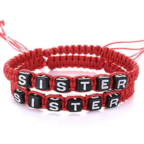 JZHJJ eenvoudige en stijlvolle klassieke paar armband met de hand geweven armband, met de hand geweven armband, zussen, vriendinnen, sieraden inclusief: armband, armbanden vrouwen, armband, mannen